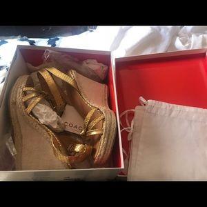 Authentic coach metallic shoes